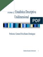 Estadística Descriptiva Unidimensional