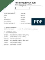 Curriculum Vitae - Sergio