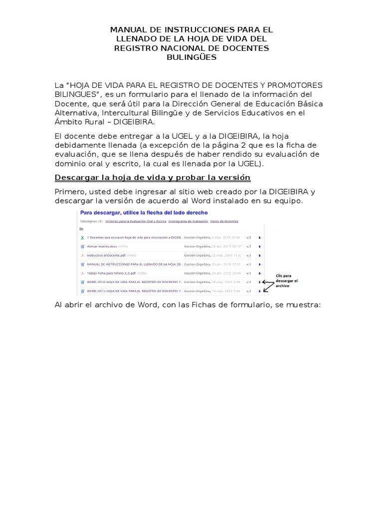 Bonito Descargar Hojas De Vida Ornamento - Ejemplo De Colección De ...