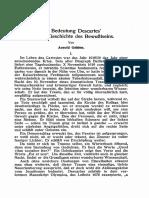 GEHLEN - Die Bedeutung Descartes Fur Eine Geschichte Des Bewusstseins