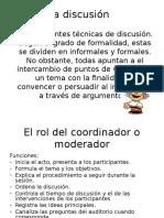 Tecnicas de Discusion Oral