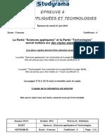 BACHOTELLERIE Sciences Appliquees Et Technologies 2016