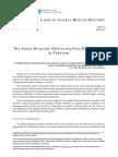 Harward Business School's Case Study on Indus Hospital