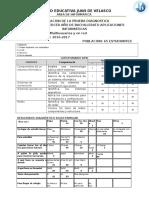 Resultados Diagnostico 1 2016-2017