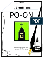 A book report of Po-on by F. Sionil Jose