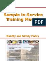 Hospital Sample in-service Training Module