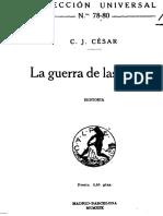 JULIO CÉSAR - Comentario a La Guerra de Las Galias