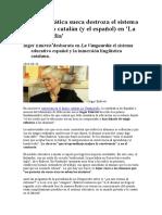 Una Catedrática Sueca Destroza El Sistema Educativo Catalán