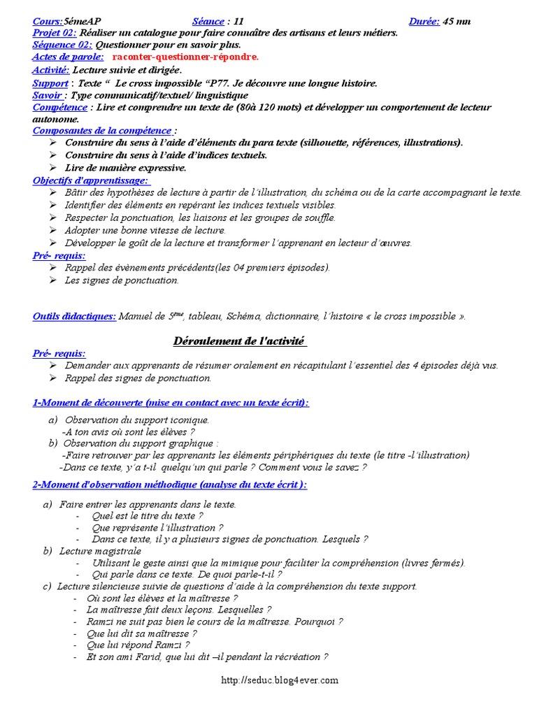(3) Fiches_de lecture suivie et dirigée 5 °AP   Lecture ...