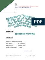 Proyecto Mejoramiento y Rehabilitación Integral de Los Sistemas AGUA Y ALCANTARILLADO