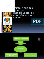 PPT Delito y drogas. Modelos de Intervención de Conducta Delictiva, relación droga delito.