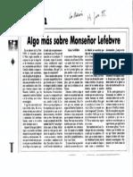 """Artículo de Rafael Gambra en """"La Nación"""" sobre Marcel Lefebvre"""
