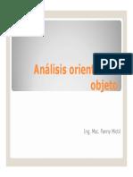 Analisis Orientado a Objeto