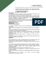 Especificaciones Tecnicas Formula 2