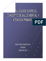 Generalidades de Salud Mental