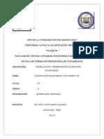 Investigacion Formativa Formulacion