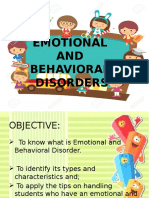 EMOTIONAL and Behavioral Report