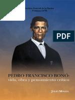Vol 206. Pedro Francisco Bono Vida Obra y Pensamiento Critico. Julio Minaya