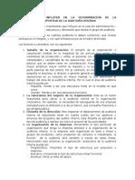 Factores Que Influyen en La Determinación de La Organización Corporativa de La Auditoría Interna