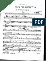 Bartok Concerto for Orchestra Trumpet 1