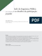 A Historicidade Da Segurança Pública No Brasil e Os Desafios Da Participação Popular