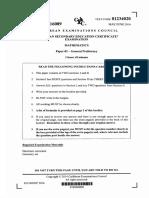CSEC June 2016 Mathematics P2