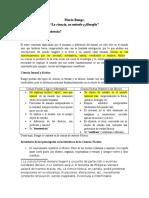 Resumen, Mario Bunge