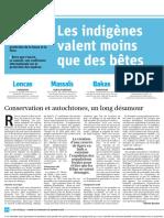 Conservation et autochtones un long désamour