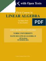 Kuttler LinearAlgebra AFirstCourse Yorku MATH2022 Summer2016