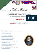 October News Robert E Lee Camp 1589 SCV
