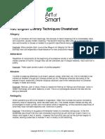 HSC English Literary Techniques Cheatsheet