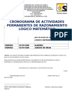 Cronograma y Act Permanentes de Rlm