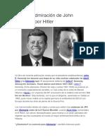 Secreta Admiración de John Kennedy Por Hitler