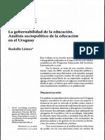 La Gobernabilidad de La Educación