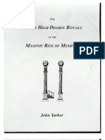 Secret High Degree Rituals of Memphis - John Yarker
