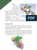 REGIONALIZACION DEL PERU LINEA DE TIEMPO