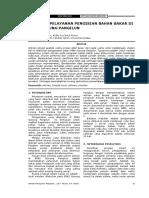 Josi - Vol. 9 No. 1 April 2010 - Hal 31-36 Simulasi Pelayanan Pengisian Bahan Bakar Di Spbu Gunung Pangilun