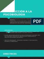 Introducción a La Psicobiologia