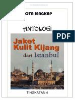 Nota Lengkap Antologi Jaket Kulit Kijang Dari Istanbul