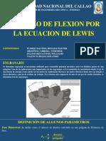 Esfuerzo de Flexión Por La Ecuación de Lewis