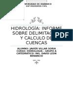 Analisis de Subcuenca HIdrologica