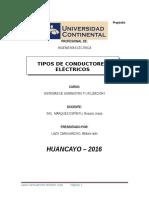 TIPOS DE CONDUCTORES ELÉCTRICOSonductores