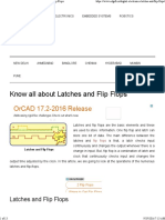 Know About the Difference Between Latches and Flip Flops