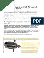 Válvula IAC ó Sensor IAC