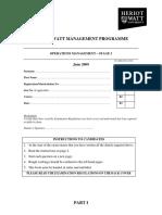 Operations Management June 09 S3 Part I WebV