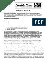 Infertility in Cattle