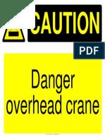 caution lifting sign