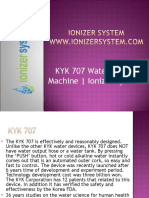 KYK 707 Water Ionizer Machine | Ionizer System