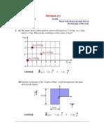 2009 3rd Exam Ph211 Solution