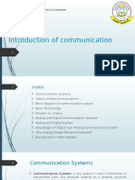 Introduction of Communication
